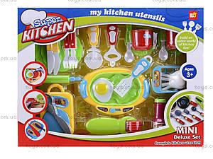 Комплект посуды с плитой для детей, WD-G12, фото