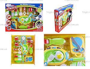 Комплект посуды с плитой для детей, WD-G12