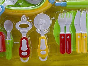 Комплект посуды с плитой для детей, WD-G12, игрушки