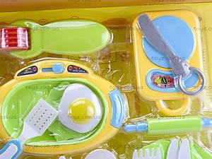 Комплект посуды с плитой для детей, WD-G12, детские игрушки