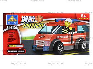 Конструктор Kazi «Пожарная техника», 83 деталей, 8057, купить