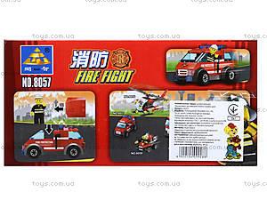Конструктор Kazi «Пожарная техника», 83 деталей, 8057, фото