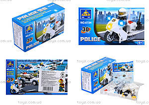 Конструктор Kazi «Полиция», 30 деталей, 6734