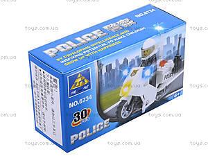 Конструктор Kazi «Полиция», 30 деталей, 6734, цена