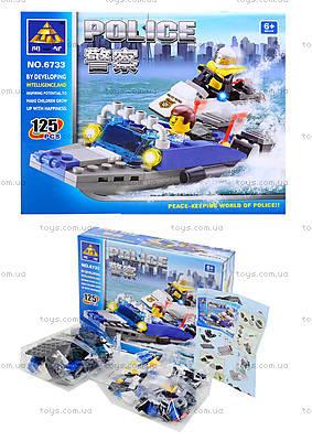 Конструктор для детей «Патрульный катер»,125 деталей, 6733