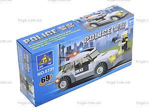 Конструктор «Полицейский джип», 69 деталей, 6731, купить