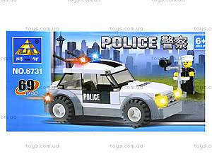 Конструктор «Полицейский джип», 69 деталей, 6731, цена