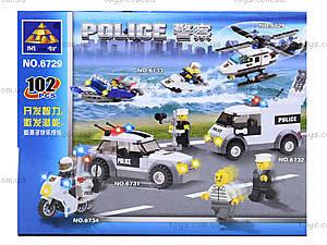 Конструктор «Полицейский вертолет», 102 детали, 6729, купить