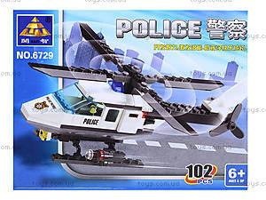 Конструктор «Полицейский вертолет», 102 детали, 6729, отзывы