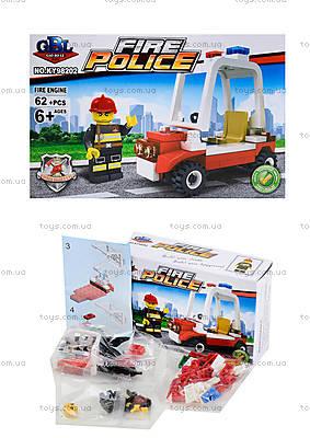 Конструктор детский «Пожарная охрана», 62 элемента, KY98202
