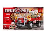 Детский конструктор «Пожарная бригада», 58 деталей, 21201, фото