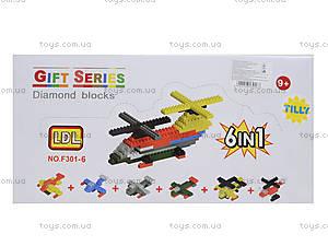 Детский конструктор самолет , 301-6, игрушки