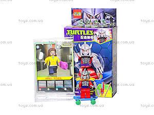 Конструктор «Герои Черепашек-ниндзя», 3D3801-3806, игрушки