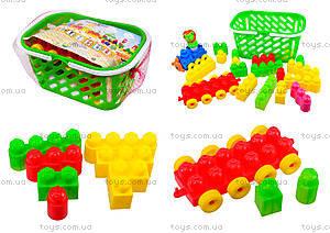 Конструктор для детей в корзинке (в ассортименте), 02-306