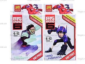Конструктор детский Big Hero, 6 видов, 79029, отзывы