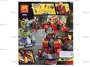 Конструктор детский «Супергеройские сражения», 79081, цена