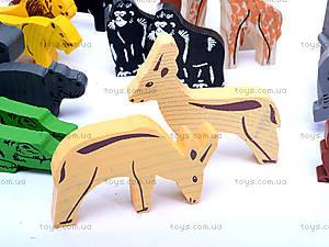 Деревянный конструктор «Африка», 7678-4, игрушки