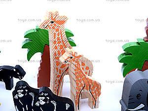 Деревянный конструктор «Африка», 7678-4, детские игрушки