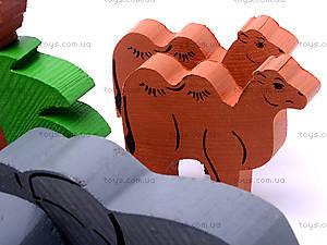 Деревянный конструктор «Африка», 7678-4, toys
