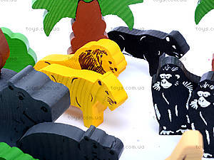 Деревянный конструктор «Африка», 7678-4, іграшки