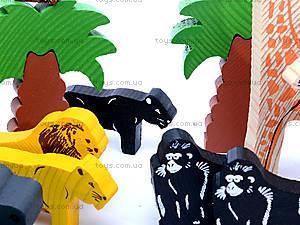 Деревянный конструктор «Африка», 7678-4, детский