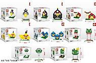 Конструктор с мелкими деталями Angry Birds, SD8023-8030, купить