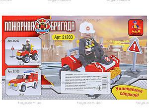 Конструктор «Пожарный джип», 46 деталей, 21203, фото