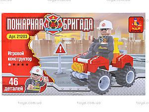Конструктор «Пожарный джип», 46 деталей, 21203, отзывы