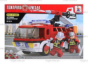 Конструктор «Пожарная бригада», 192 детали, 21503, отзывы