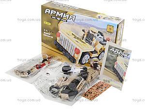 Детский конструктор «Армейский джип», 101 деталь, 22417, фото