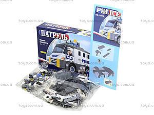Детский конструктор «Патрульная машина», 23414, фото