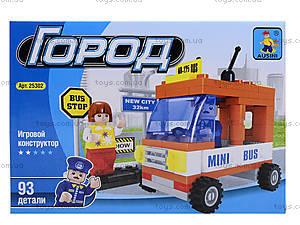 Детский конструктор «Автобус», 93 детали, 25302, фото