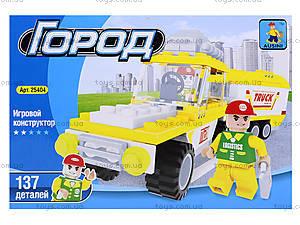 Детский конструктор «Машина с прицепом», 137 деталей, 25404, отзывы