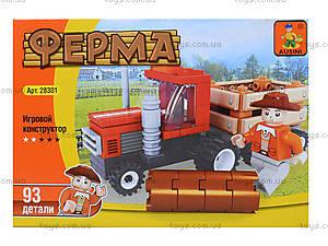 Детский конструктор «Трактор на ферме», 93 детали, 28301, отзывы