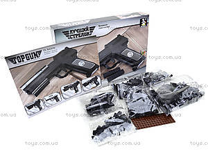Конструктор для детей «Пистолет», 22512, фото