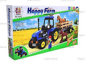 Конструктор для детей «Ферма», 6007, детские игрушки