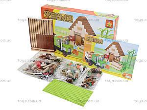 Детский конструктор Brick «Ферма», 210 деталей, 28502, фото