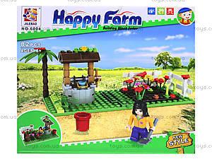 Конструктор Brick «Клумба с цветами», 6004, игрушки
