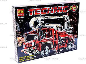 Конструктор Brick «Пожарная машина», 9606