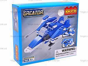 Конструктор Brick «Самолет», 3001, игрушки