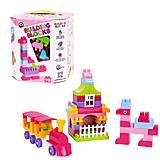 """Конструктор """"Building Blocks"""" 90 деталей розовый, 6535, фото"""