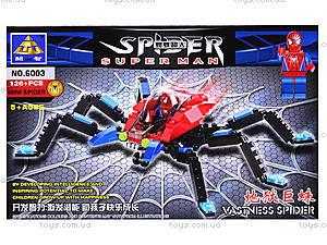Конструктор «Человек-паук», 126 деталей, 6003, цена