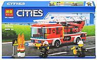 Конструктор CITIES «Пожарная машина с лестницей», 10828, фото