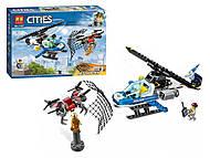 """Конструктор """"CITIES"""" """"Воздушная полиция: погоня дронов"""" 210 деталей, 11207, цена"""