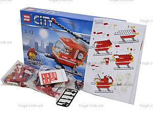 Конструктор «Вертолет пожарников», 98 деталей, 89003, фото
