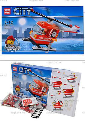 Конструктор «Вертолет пожарников», 98 деталей, 89003