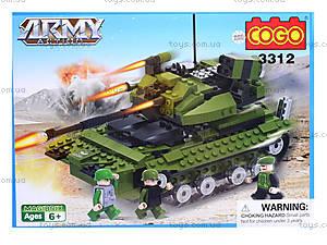 Конструктор COGO «Военный танк», CG3312, отзывы