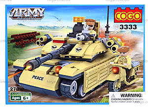 Детский конструктор «Военная техника», 278 деталей, CG3333, купить