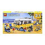 Конструктор «CREATOR» «Солнечный фургон серфенгиста» (коробка) 391деталей, 11047