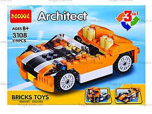 Детский конструктор «Транспорт», 3107-3109, игрушки